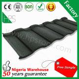 Preço ondulado de aço de alumínio romano dobro da folha da telha de telhado dos materiais de construção em Nigéria