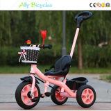 큰 유모차 아이의 주기 아이의 세발자전거  미는 사람으로