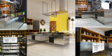 Edelstahl-bewegliche Küche-Möbel
