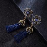 다이아몬드 껍질로 덮인 Retro 합금 귀걸이의 유럽 형식 간단하고 긴 작풍