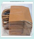 Zak van het Handvat van het Document van de Ambacht van de Kleur van de hoogste Kwaliteit de Bruine die in China wordt gemaakt