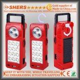 Nachladbare Solar-LED-Notleuchte mit 1W Taschenlampe, USB (SH-1905)