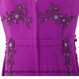 Платье вечера партии V-Шеи длинней официально Цвет-Перлы мантий шикарное