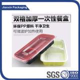 Dos de Color de plástico desechable Caja de Comida Rápida Comida contenedor Tary cuadro