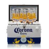 Koelere Doos van het Bier &Wine van het Metaal van de corona de Extra met Handvat Twee
