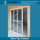 2 Pista de doble capa de cristal de aluminio para puertas corredizas para la decoración de interiores