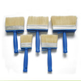 Cepillo plano de la cerda de la mezcla del color del techo plástico blanco profesional de la maneta (GMPB011)