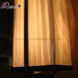 Sala de conferência vintage Opal White Fabric Shade Pendant Lamp