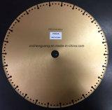 400mm diamante de corte circular del disco de hoja de sierra para cortar materiales duros compuesto de hormigón con barras de refuerzo