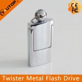 새로운 회전대 Laser 로고 금속 USB 섬광 드라이브 (YT-1241-02)