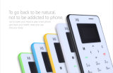 Hot Selling Colorful X6 4.8mm Ultra Thin Card Telefone Mini Card Phone com teclado árabe
