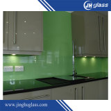 Vidro pintado verde de 3mm para cozinha