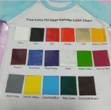 Vinyle lavable et élastique bleu-clair de câble d'unité centrale pour le T-shirt