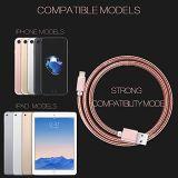 1 mètre d'or, argent, or rose, tige noire acier câble USB pour iPhone iPad iPod