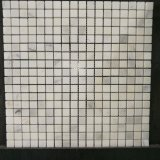 Плитка мозаики Cararra популярной ванной комнаты белая мраморный стеклянная (MS-638)