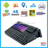 3G NFC RFID Android Tablet PC com impressora térmica integrada