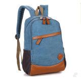 Saco dobro da trouxa da lona do portátil do ombro, saco de viagem da trouxa da escola