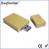 La figura rettangolare ha riciclato l'azionamento di carta della penna del USB (XH-USB-131)
