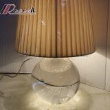 Lampada rotonda di cristallo moderna della Tabella dello schermo del tessuto per la camera da letto