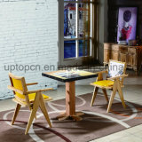 خشبيّ مطعم أثاث لازم مجموعة مع جميل يطبع على طاولة وكرسي تثبيت ([سب-كت785])