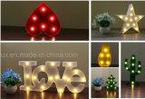 La carpa del LED pone letras a iluminación decorativa casera de las cartas de Alphabat LED de la luz 26