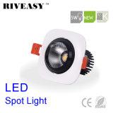 proyector cuadrado de la iluminación LED del negro LED Downlight LED de la MAZORCA de 5W Aliuminum