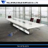 사무용 가구를 위한 현대 아크릴 단단한 지상 회의 책상 10 사람 회의장