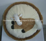 Round Decoration Cow Cushion with Cow Print Material