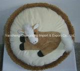 牛プリント材料が付いている円形の装飾牛クッション