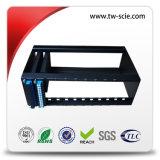 冷間圧延された鋼鉄が付いている1u光ファイバパッチ・パネルが付いているラックによって取付けられるMPOのパッチ・パネル