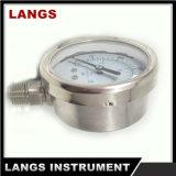 calibre de pressão enchido líquido do aço inoxidável de 032 50mm
