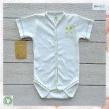 Желтый младенец цвета одевает изготовленный на заказ младенца Onesie размера