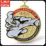 Медаль изготовленный на заказ золота спорта овальное с пожалованием
