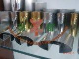 Tubo scanalato ovale decorativo dell'acciaio inossidabile per vetro