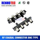 BNC au connecteur à angle droit de support de carte de RCA