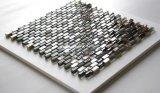 Mosaico del shell de agua dulce y del vidrio de mármol y cristalino 10*20