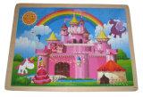 Het houten Stuk speelgoed van de Puzzel van het Kasteel