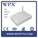 4fe 2vpoip USB WiFi GEPON Home Gateway Unidad Hgu ONU