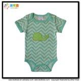 Stripe Printing Baby Garment Organic Cotton Infant Bodysuit