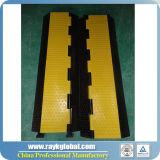 Rk 3 Kanäle PU-Plastikim freienereignis-Kabel-Rampen-Schoner