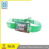 Bracelet passif personnalisé d'IDENTIFICATION RF de polyester de logo pour l'événement