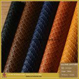 Padrão de pele de serpente em relevo de couro PU de alta qualidade (S272110)