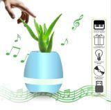 De slimme Spreker van de Muziek Bluetooth met de Lichte Potten van de Bloem van de Installatie van de Aanraking