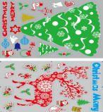 Etiquetas engomadas de la ventana de la decoración de la Navidad (JG670)