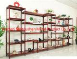 Chaussures Supermarché Showcase rack métallique d'affichage personnalisé des chaussures de marchands de rack