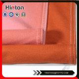 Tessuto di lavoro a maglia del denim di colore arancione materiale comodo dell'indumento
