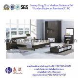 黒いカラーIkeaのホーム家具MDFの寝室セット(F17#)