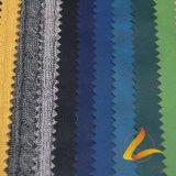 Эластичная ткань кожи покрытия PU основания полиэфира для кожаный Pantsjacket (Y63-1-SWA-G)