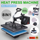 8 en 1 transfert numérique Sublimation Heat Press Machine T-Shirt Mug Hat Cap