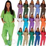 病院の看護の均一医学のユニフォームおよび医学はスーツをごしごし洗う